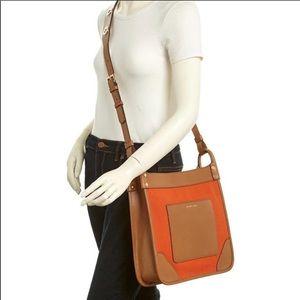 Micheal Kors Sullivan Tangerine Crossbody Handbag